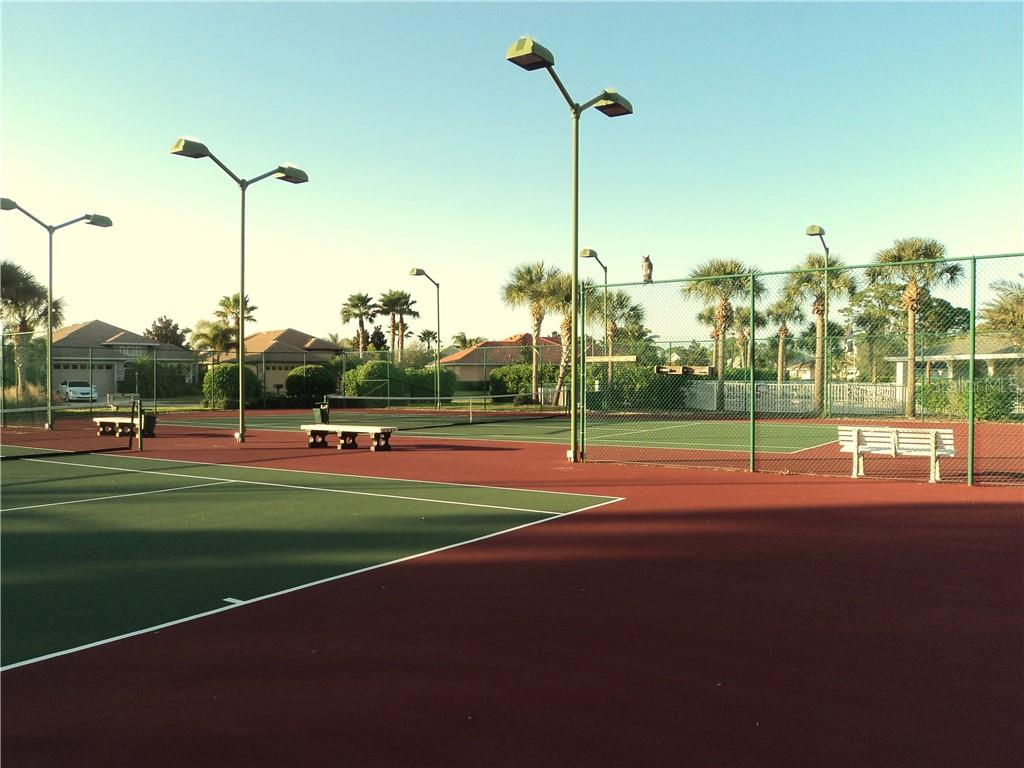 Tennis & Pickle Ball Courts - Villa for sale at 1116 Yosemite Dr, Englewood, FL 34223 - MLS Number is D6100080