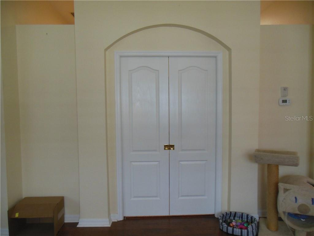 Den/Office with Pocket Doors Closed - Villa for sale at 1116 Yosemite Dr, Englewood, FL 34223 - MLS Number is D6100080
