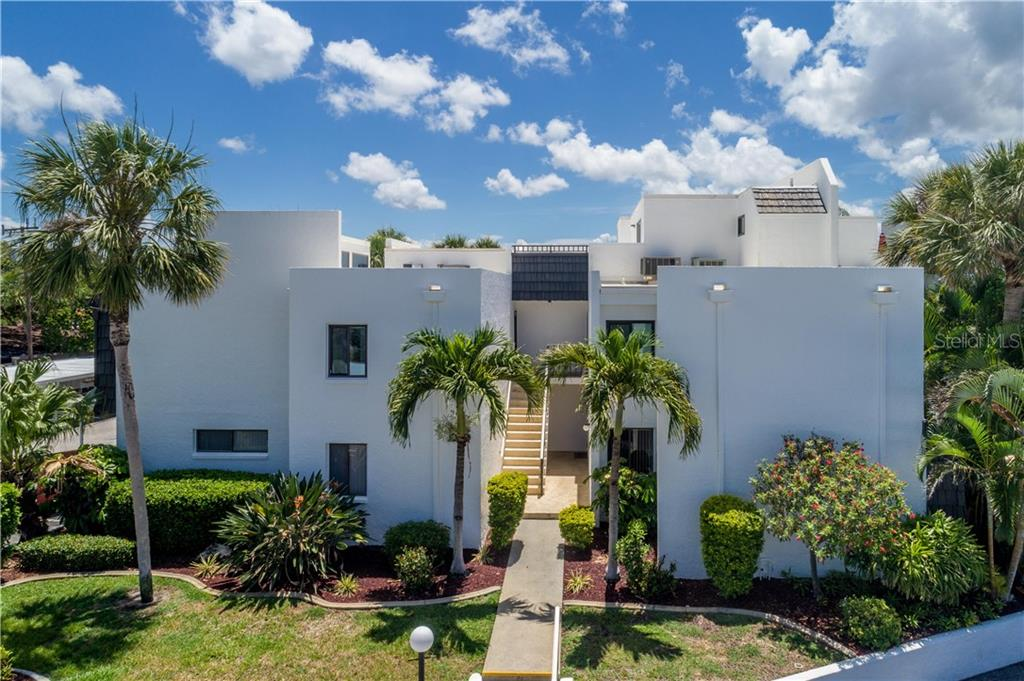 Aerial view of the B6 building - Condo for sale at 2955 N Beach Rd #b612, Englewood, FL 34223 - MLS Number is D6101147