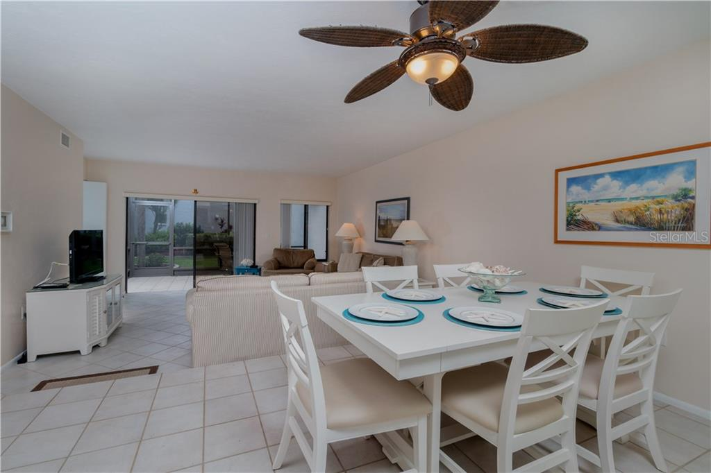 View from kitchen of dining / living area - Condo for sale at 2955 N Beach Rd #b612, Englewood, FL 34223 - MLS Number is D6101147