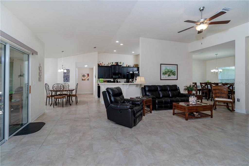 Large open floor plan.  Plenty of space for guests to stay awhile. - Single Family Home for sale at 71 Mariner Ln, Rotonda West, FL 33947 - MLS Number is D6101950