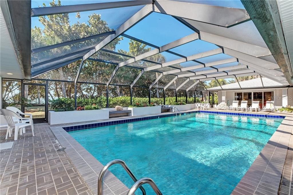 The 20x40 Pool is perfect for lap swimming. - Single Family Home for sale at 7400 Manasota Key Rd, Englewood, FL 34223 - MLS Number is D6104362
