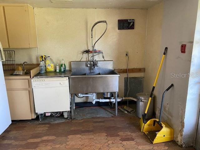 Kitchen with Commercial Dish washing area - Single Family Home for sale at 2211 Englewood Rd, Englewood, FL 34223 - MLS Number is D6106456
