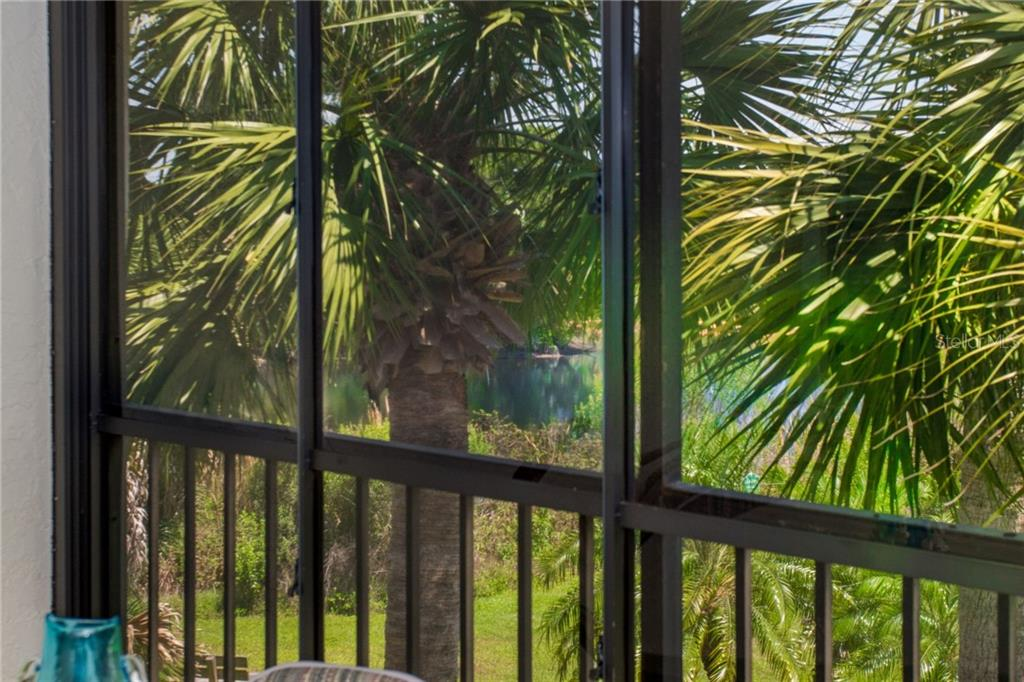 View the pond no matter the weather! The heavy vinyl windows can be closed to keep the heat or cold out, or opened to let the breezes blow in! - Condo for sale at 6800 Placida Rd #271, Englewood, FL 34224 - MLS Number is D6106459