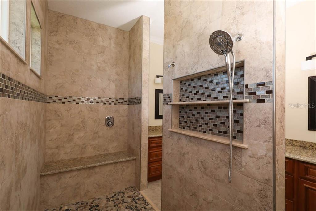 walk through shower in master ensuite - Single Family Home for sale at 15610 Seafoam Cir, Port Charlotte, FL 33981 - MLS Number is D6106526