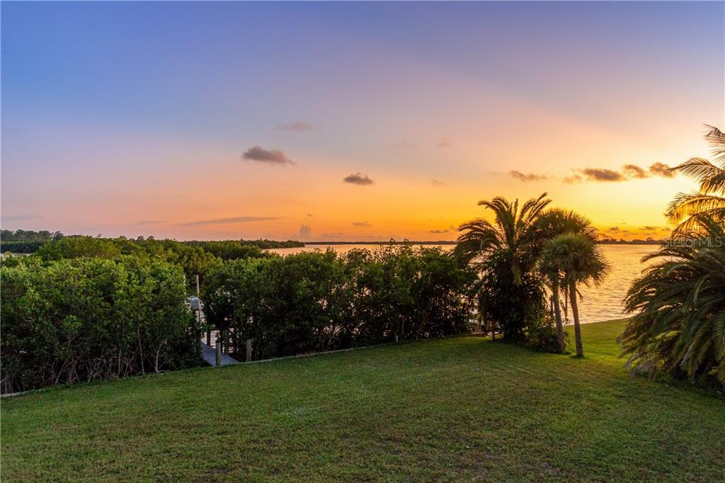 Sunset view from back yard - Single Family Home for sale at 1851 New Point Comfort Rd, Englewood, FL 34223 - MLS Number is D6109283