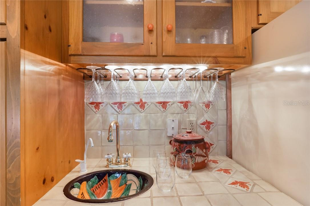 Detail of bar sink - Single Family Home for sale at 4090 Loomis Ave, Boca Grande, FL 33921 - MLS Number is D6112331