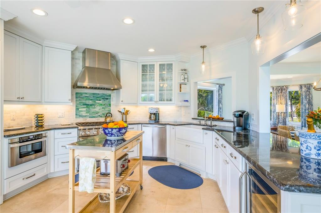 There's plenty of room for multiple cooks, and a fireclay farm sink for added convenience - Single Family Home for sale at 511 Loquat Dr, Anna Maria, FL 34216 - MLS Number is T3196169