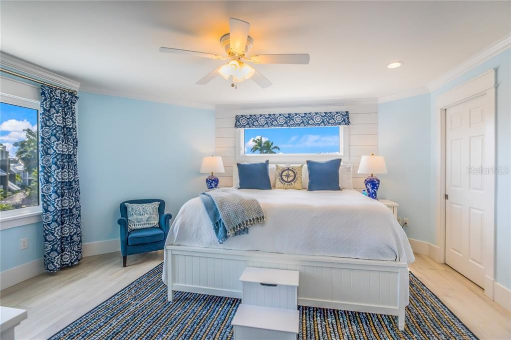 The second master suite on the third floor offers plenty of storage and water views - Single Family Home for sale at 511 Loquat Dr, Anna Maria, FL 34216 - MLS Number is T3196169