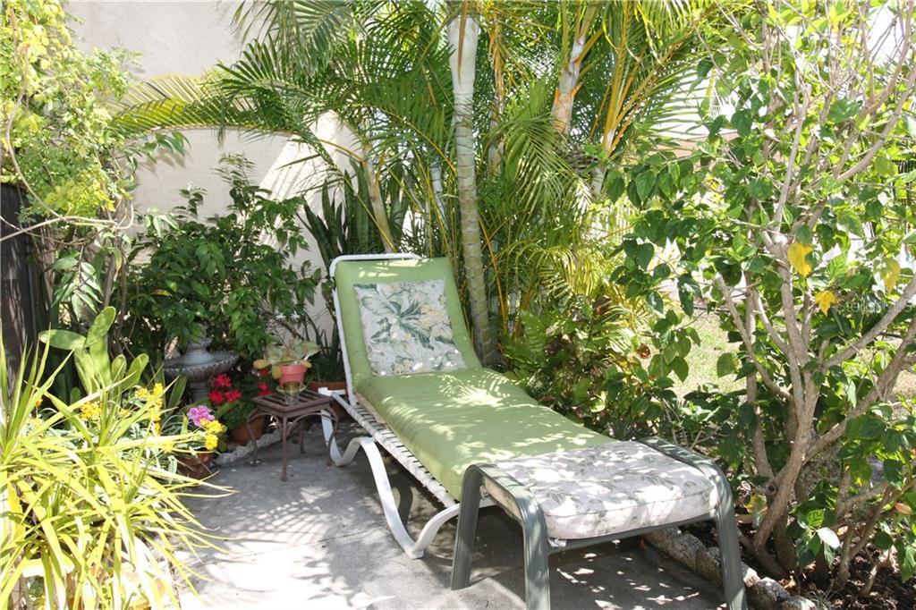 Outdoor Back Patio - Condo for sale at 6796 Gasparilla Pines Blvd #75, Englewood, FL 34224 - MLS Number is C7251454