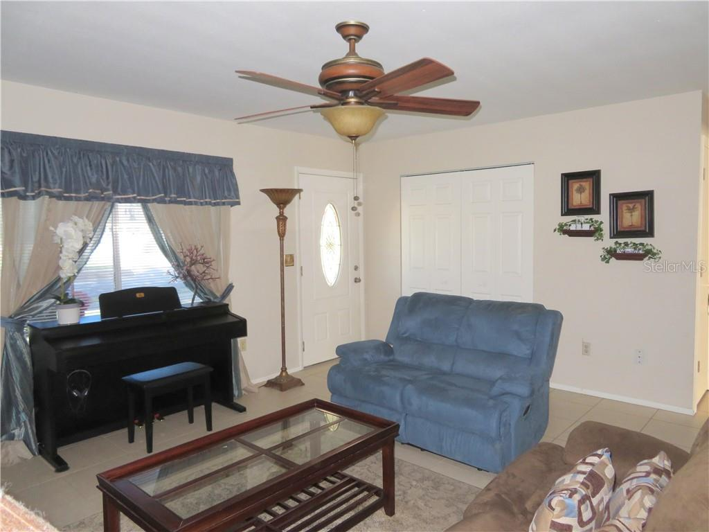 Living Toward Entry, coat closet - Single Family Home for sale at 4275 Tollefson Ave, North Port, FL 34287 - MLS Number is C7416188