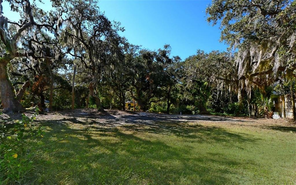Mature oaks, cedar & natural foliage - Vacant Land for sale at 8535 Midnight Pass Rd, Sarasota, FL 34242 - MLS Number is A4146348