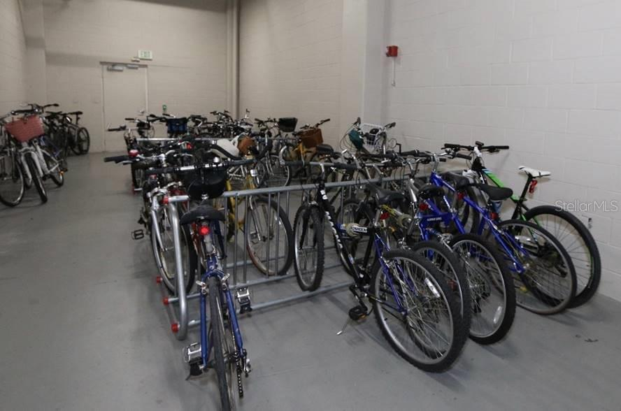 Secured bicycle room on the ground floor - Condo for sale at 1771 Ringling Blvd #1108, Sarasota, FL 34236 - MLS Number is A4162718