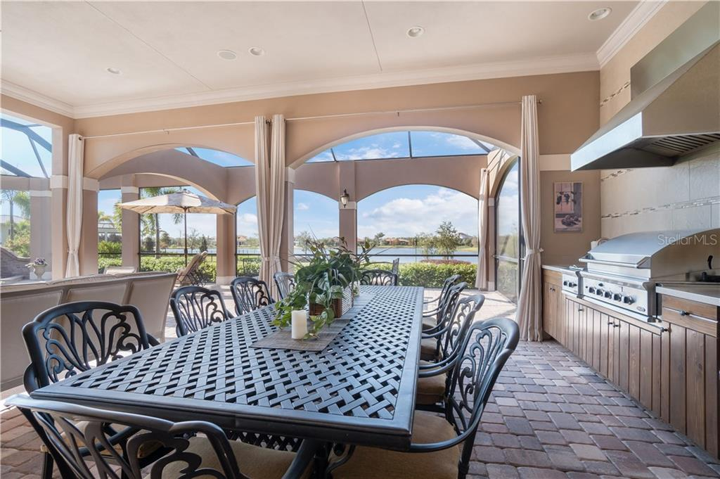 Lanai overlooking the lake - Single Family Home for sale at 16318 Daysailor Trl, Lakewood Ranch, FL 34202 - MLS Number is A4170081