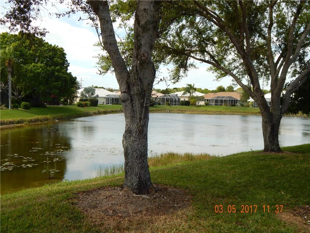 ANOTHER VIEW FROM LANAI - Single Family Home for sale at 1203 Harbor Town Way, Venice, FL 34292 - MLS Number is A4180060