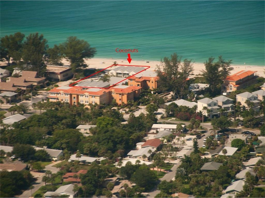 Aerial view of Coconuts - Condo for sale at 100 73rd St #202a, Holmes Beach, FL 34217 - MLS Number is A4184505