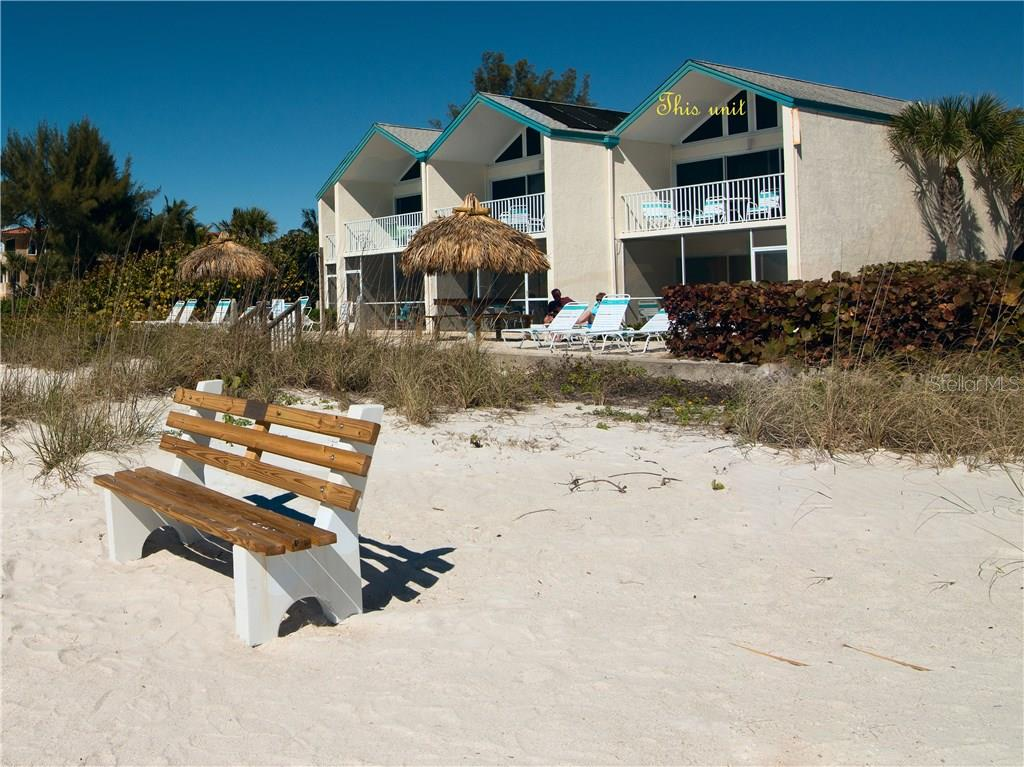 View from beach with unit location shown - Condo for sale at 100 73rd St #204a, Holmes Beach, FL 34217 - MLS Number is A4185340