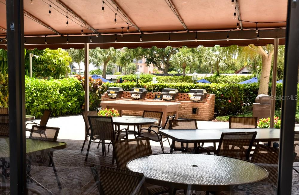 Community BBQ patio - Condo for sale at 5855 Midnight Pass Rd #628, Sarasota, FL 34242 - MLS Number is A4190416