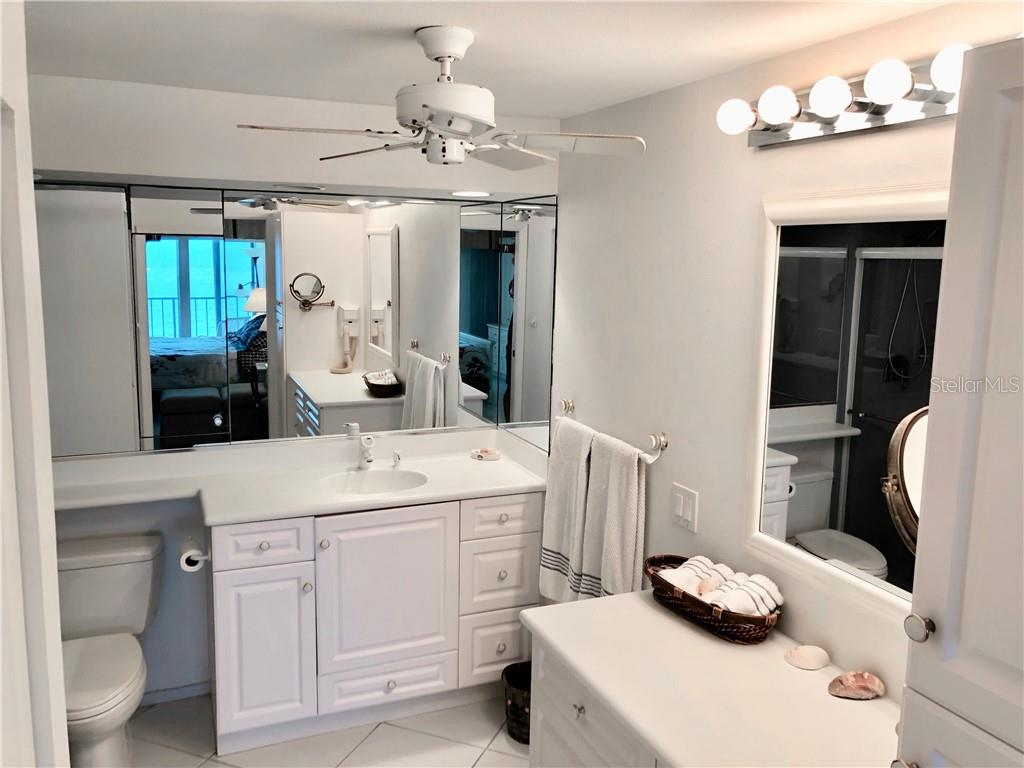 Master bathroom shower - Condo for sale at 19 Whispering Sands Dr #902, Sarasota, FL 34242 - MLS Number is A4191916