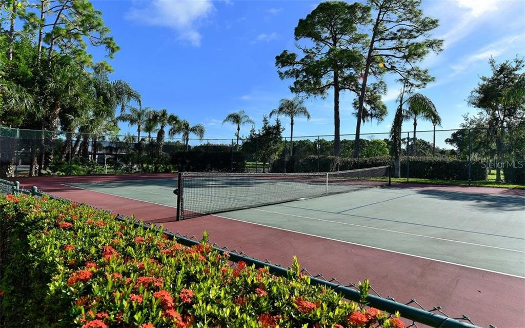 Clubside tennis/pickle ball court - steps away from this unit. - Condo for sale at 9300 Clubside Cir #1201, Sarasota, FL 34238 - MLS Number is A4192821