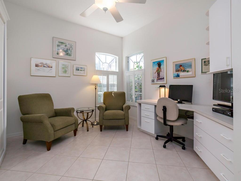 Second Bedroom with Murphy Bed - Villa for sale at 8773 Pebble Creek Ln, Sarasota, FL 34238 - MLS Number is A4197786