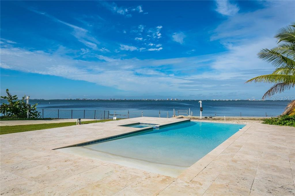 Infinity edge saltwater pool - Single Family Home for sale at 4035 Bay Shore Rd, Sarasota, FL 34234 - MLS Number is A4199264