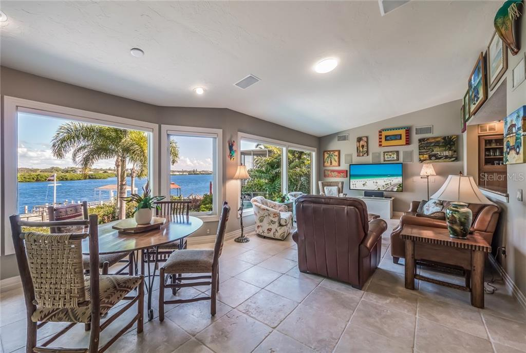 Family/Bay room with expansive ICW views - Single Family Home for sale at 1253 Riegels Landing Dr, Sarasota, FL 34242 - MLS Number is A4203768