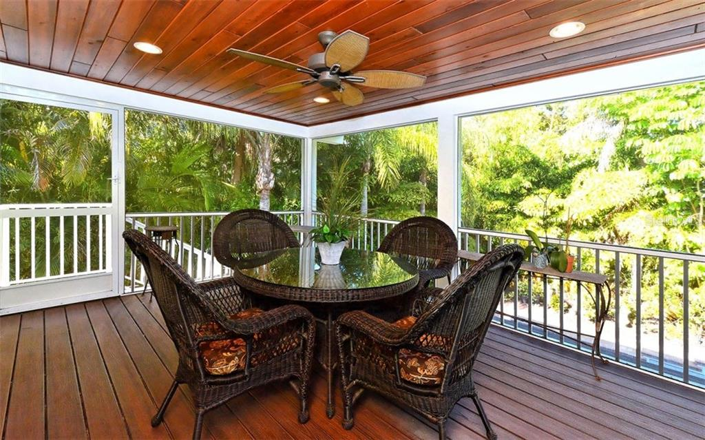 Covered, screened porch - Single Family Home for sale at 141 Ogden St, Sarasota, FL 34242 - MLS Number is A4208039