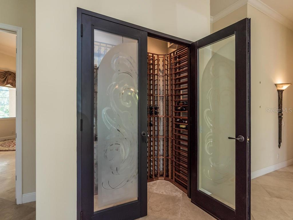 Wine Room - Single Family Home for sale at 7715 Donald Ross Rd W, Sarasota, FL 34240 - MLS Number is A4208499
