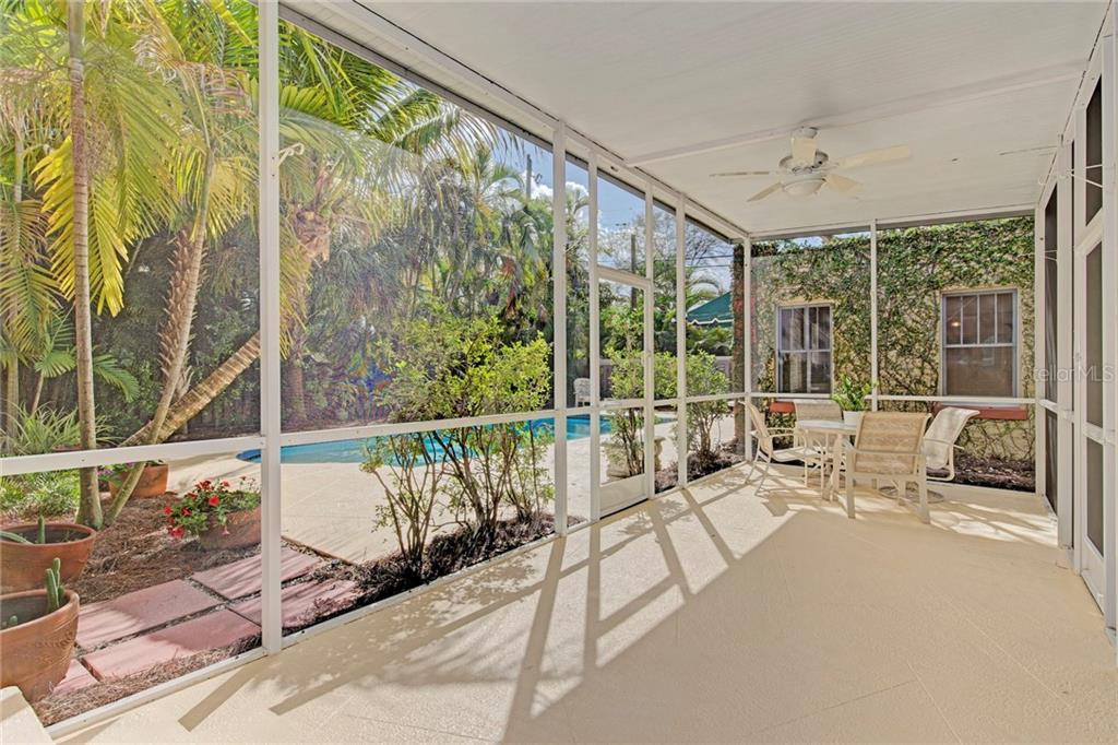 Screened/covered patio - Single Family Home for sale at 1874 Wisteria St, Sarasota, FL 34239 - MLS Number is A4211659