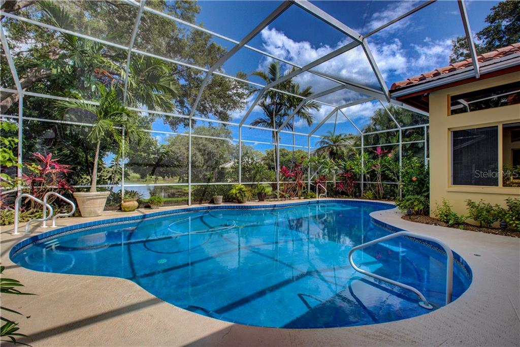 Enlarged pool for lap swimming - Single Family Home for sale at 3896 Boca Pointe Dr, Sarasota, FL 34238 - MLS Number is A4213831