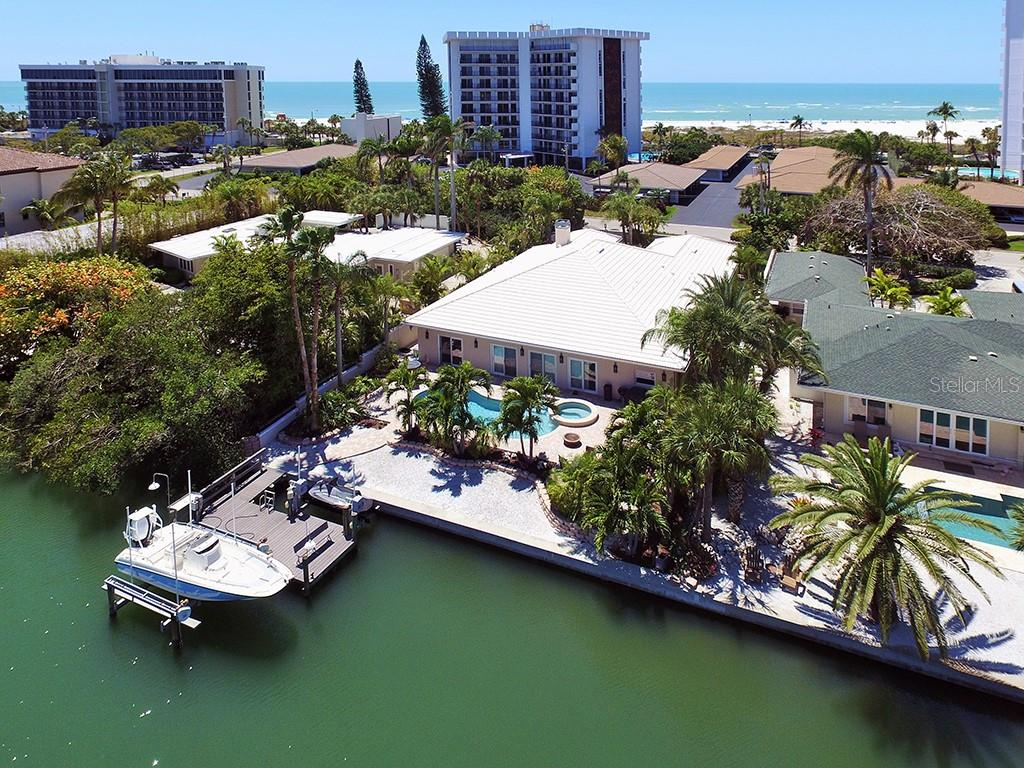 Dock with Boat and Jet Ski Lifts - Single Family Home for sale at 85 S Polk Dr, Sarasota, FL 34236 - MLS Number is A4400870
