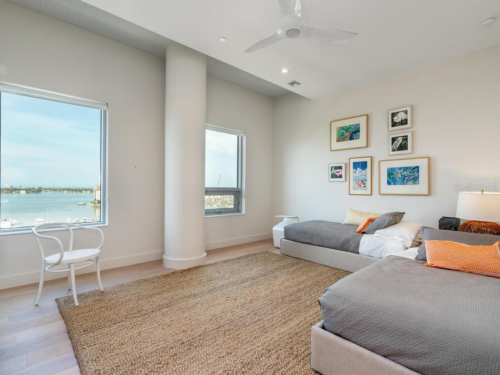 Second guest bedroom suite with amazing water views. - Condo for sale at 1301 Main St #1001, Sarasota, FL 34236 - MLS Number is A4402790