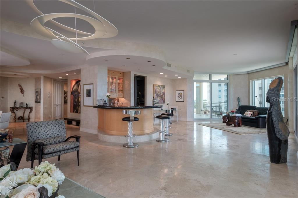 Sycamore cabinetry and Granite custom designed wet bar - Condo for sale at 340 S Palm Ave #412, Sarasota, FL 34236 - MLS Number is A4403968