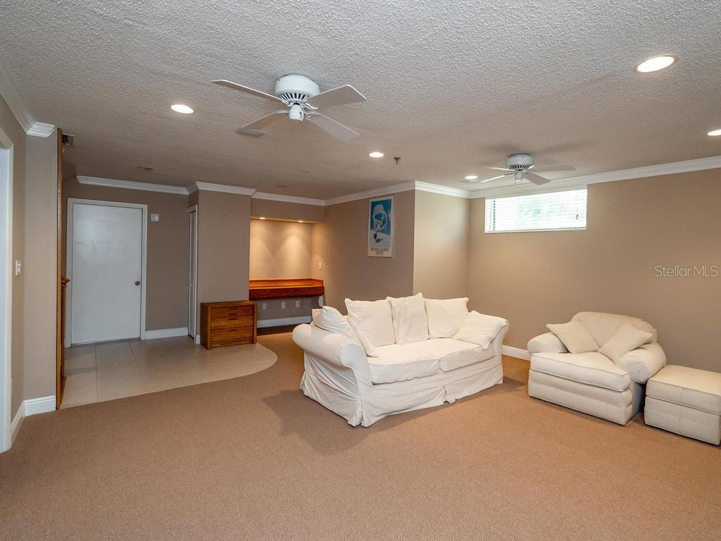 Downstairs media/bonus room - Condo for sale at 1912 Harbourside Dr #604, Longboat Key, FL 34228 - MLS Number is A4407777