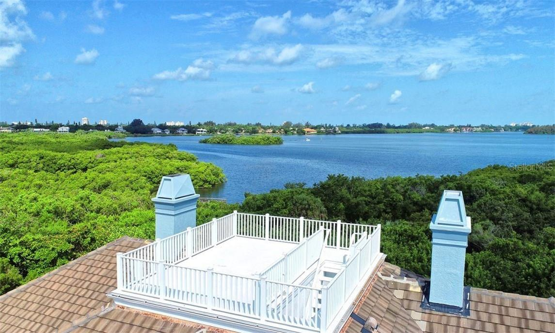 The roof deck gives you a 360 degrees view! - Single Family Home for sale at 1427 Cedar Bay Ln, Sarasota, FL 34231 - MLS Number is A4408881