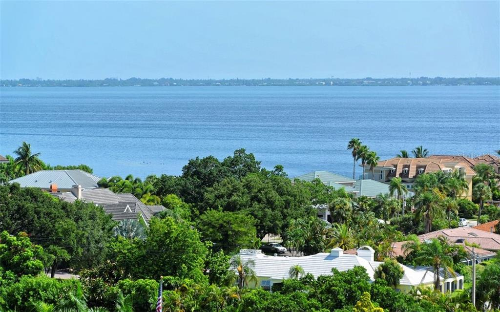 Bay and mainland views from Balcony - Condo for sale at 1211 Gulf Of Mexico Dr #705, Longboat Key, FL 34228 - MLS Number is A4410234