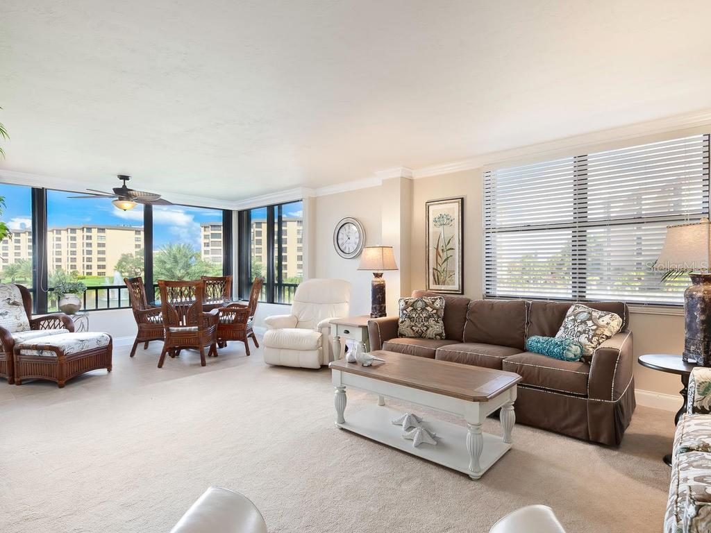 Living Area with Views - Condo for sale at 5780 Midnight Pass Rd #208, Sarasota, FL 34242 - MLS Number is A4411755