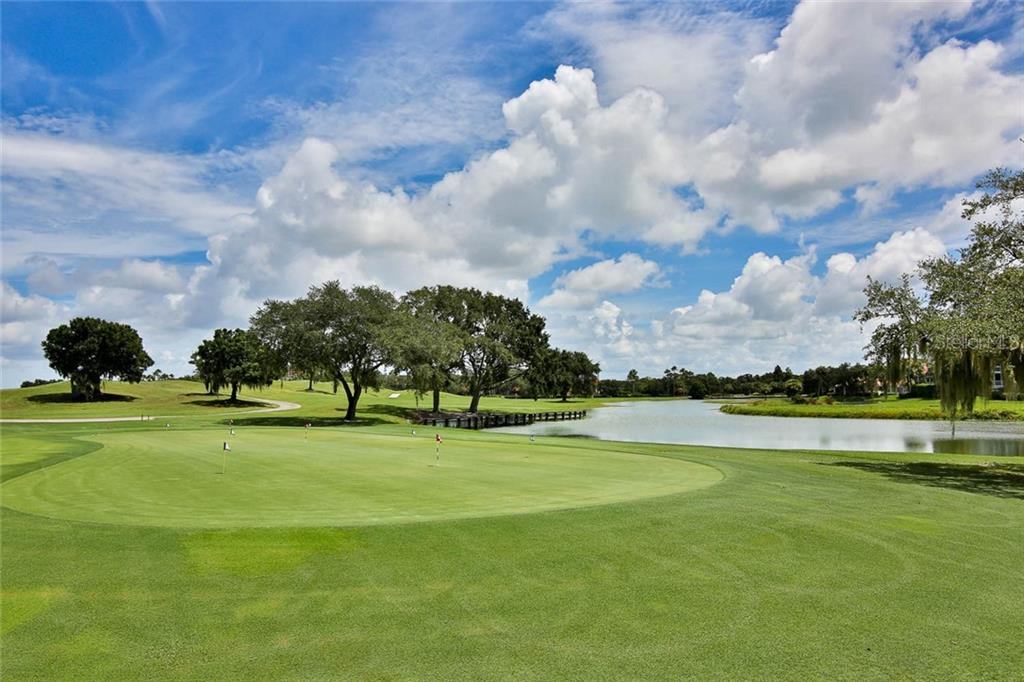 Putting green at TPC - Villa for sale at 7686 Calle Facil, Sarasota, FL 34238 - MLS Number is A4413755