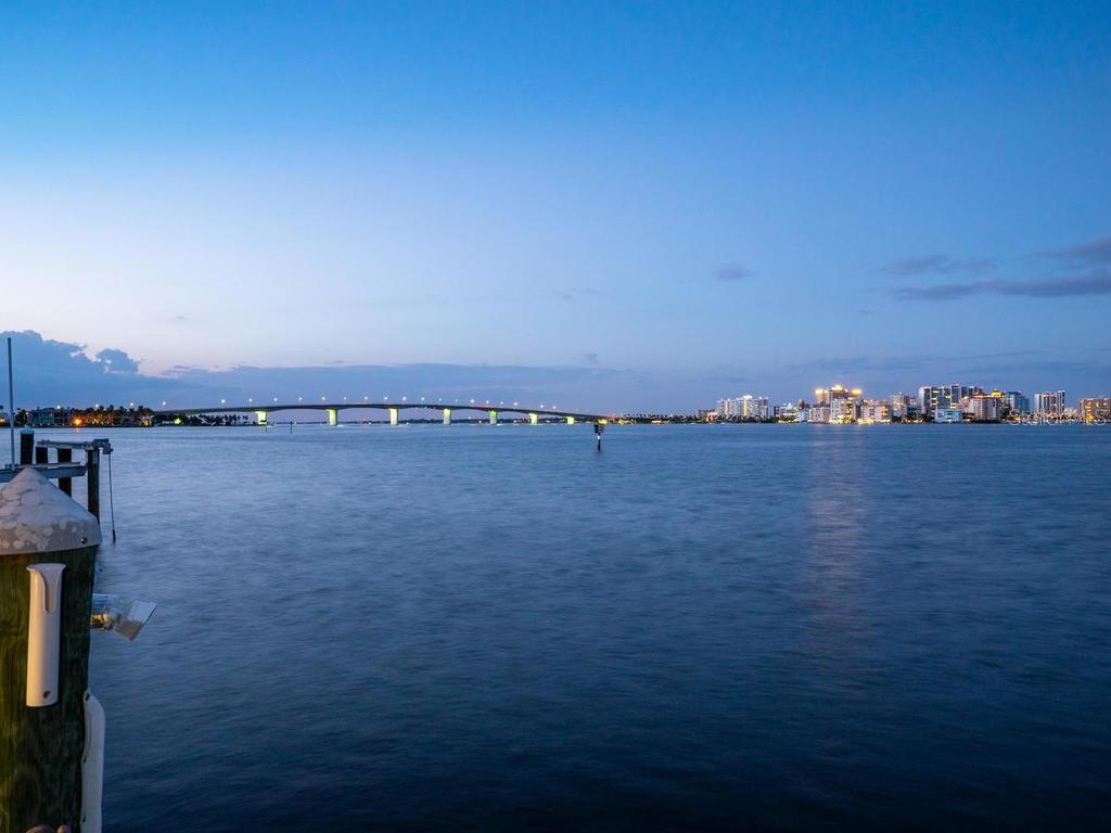 Twilight view of downtown and the bay - Single Family Home for sale at 425 Meadow Lark Dr, Sarasota, FL 34236 - MLS Number is A4415655