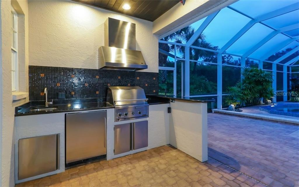 Fabulous Summer Kitchen - Single Family Home for sale at 7698 Albert Tillinghast Dr, Sarasota, FL 34240 - MLS Number is A4416123