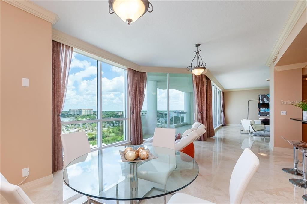 dinette off kitchen - Condo for sale at 990 Blvd Of The Arts #1102, Sarasota, FL 34236 - MLS Number is A4417004
