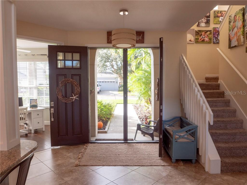 Lovely double door entry with recessed screens can be left open to let all of those fabulous breezes come in off the water and flow through your home. - Single Family Home for sale at 3803 5th Ave Ne, Bradenton, FL 34208 - MLS Number is A4417524
