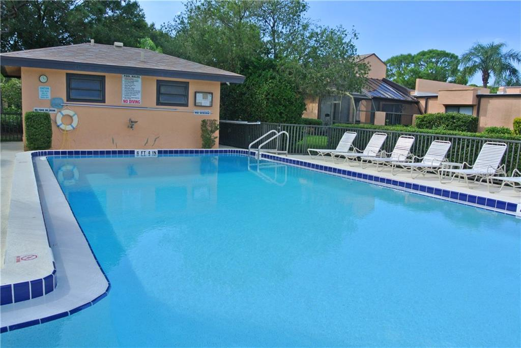 Pool house with restrooms. - Villa for sale at 5235 Myrtle Wood #18, Sarasota, FL 34235 - MLS Number is A4418558