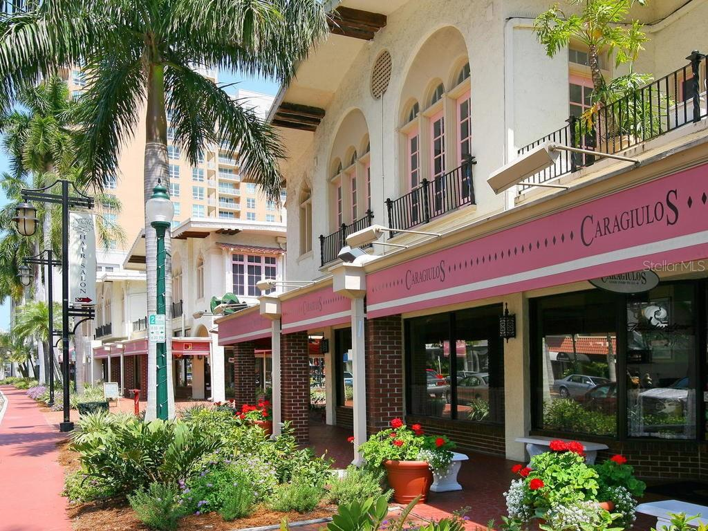 Restaurants and shops. - Condo for sale at 33 S Gulfstream Ave #706, Sarasota, FL 34236 - MLS Number is A4419314
