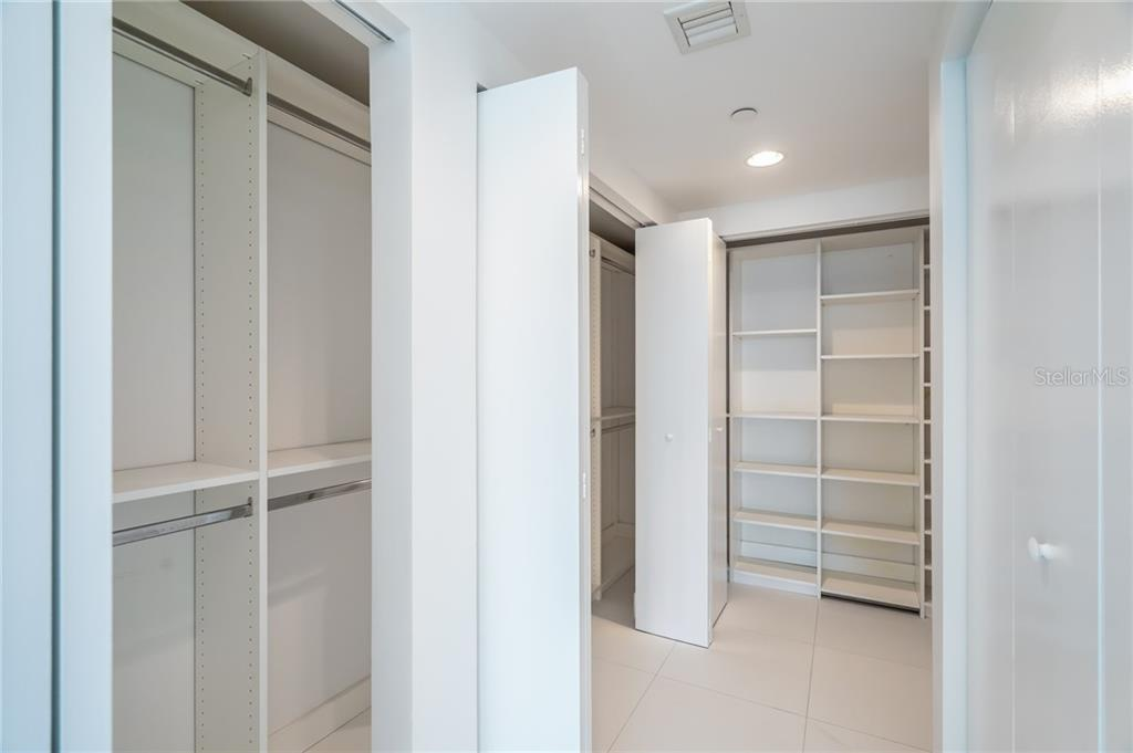 Master Closet Organizers Galore. - Condo for sale at 900 Biscayne #301, Miami, FL 33132 - MLS Number is A4420957