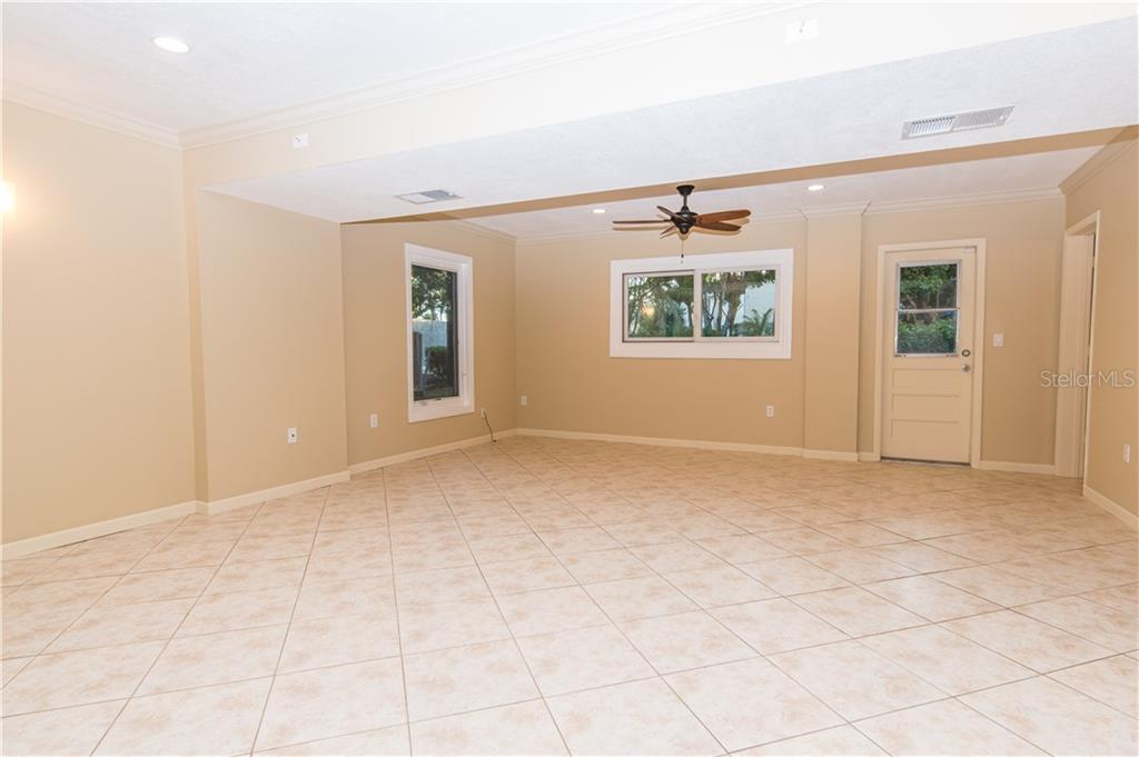 Lower level Bonus Room. - Single Family Home for sale at 108 Sand Dollar Ln, Sarasota, FL 34242 - MLS Number is A4421218