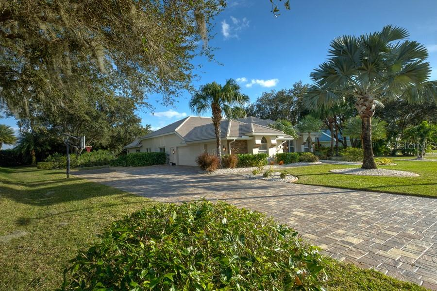 New Paver Driveway - Single Family Home for sale at 7791 Alister Mackenzie Dr, Sarasota, FL 34240 - MLS Number is A4422525