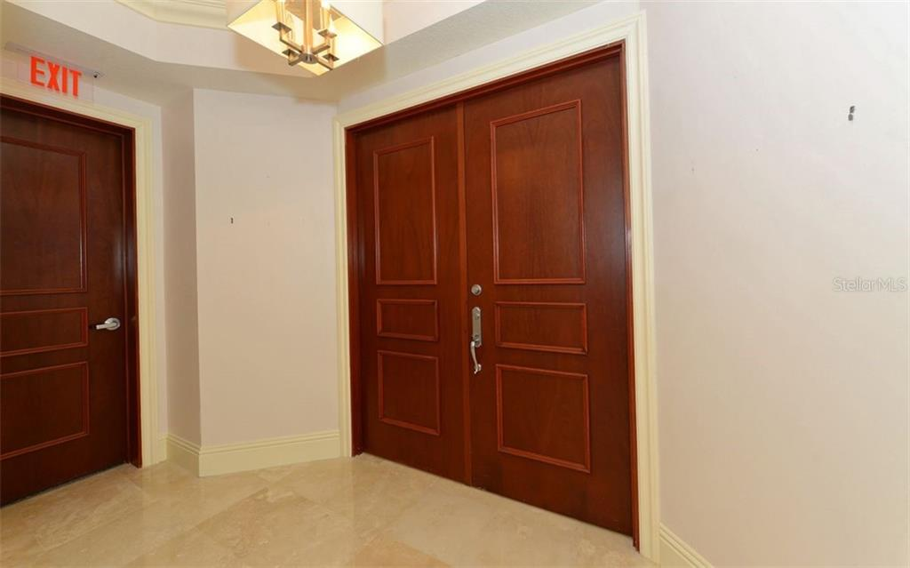 Private Elevator lobby. - Condo for sale at 464 Golden Gate Pt #701, Sarasota, FL 34236 - MLS Number is A4422622