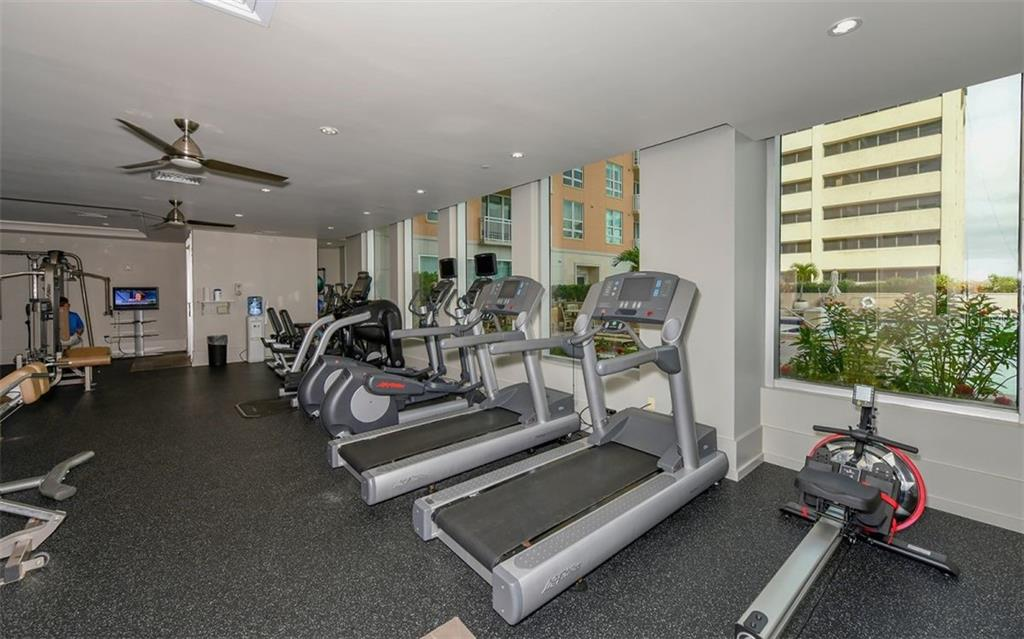 The well equipped fitness center - Condo for sale at 1350 Main St #1201, Sarasota, FL 34236 - MLS Number is A4427507